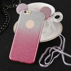 🛍SALE🛍 💕IPhone 7/8Plus Pink Glitter Mickey Case